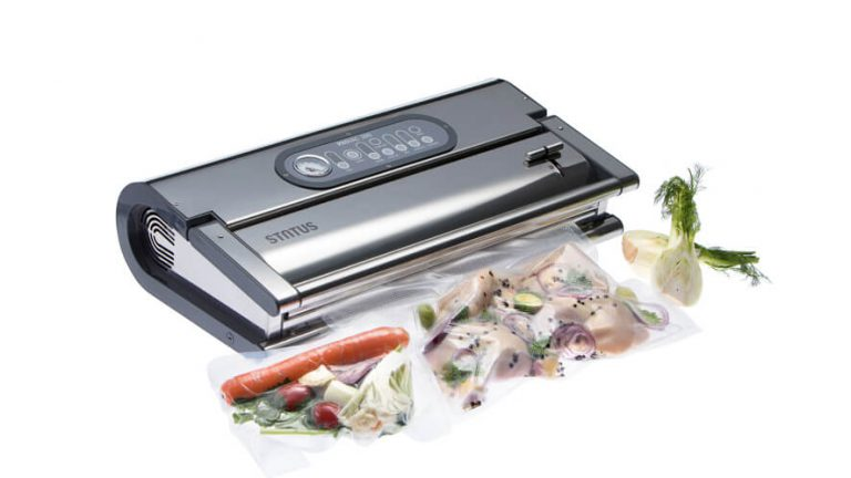 professional vacuum packing machine Provac 360 with vacuum-packed foodstuffs
