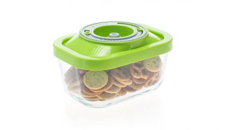 Small glass vacuum container