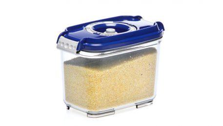 Rectangular vacuum container for food