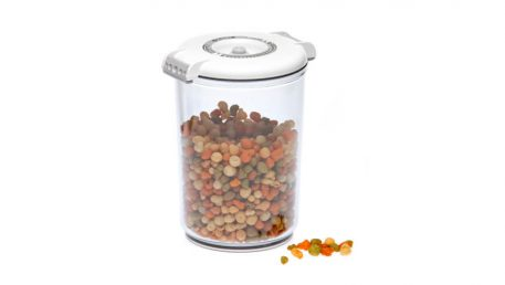 round vacuum container for food