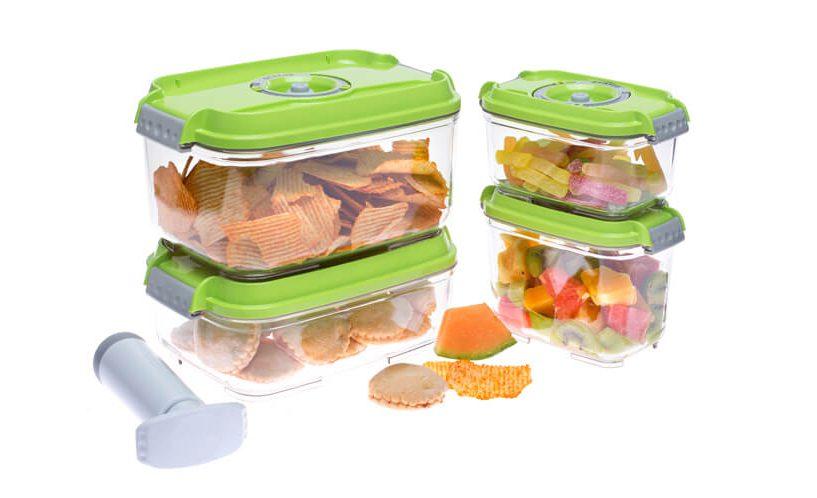 set of smaller status vacuum containers