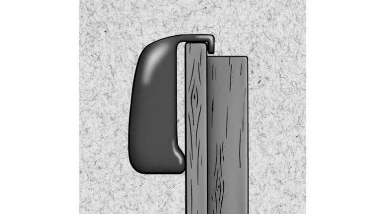 sketch of the door hanger on the top of the door