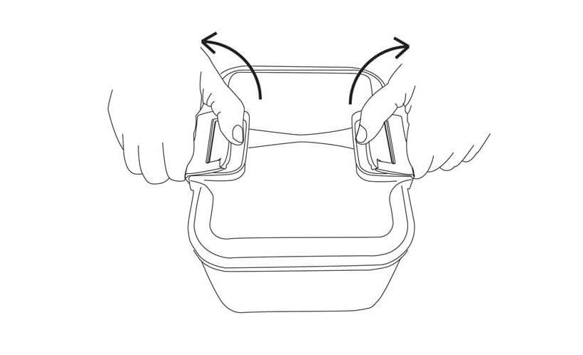 Status lock container handles