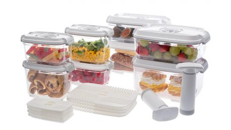 set of food vacuume containers