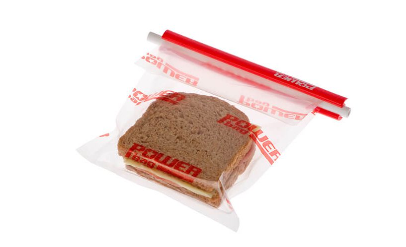 resealable food bag for sandwich