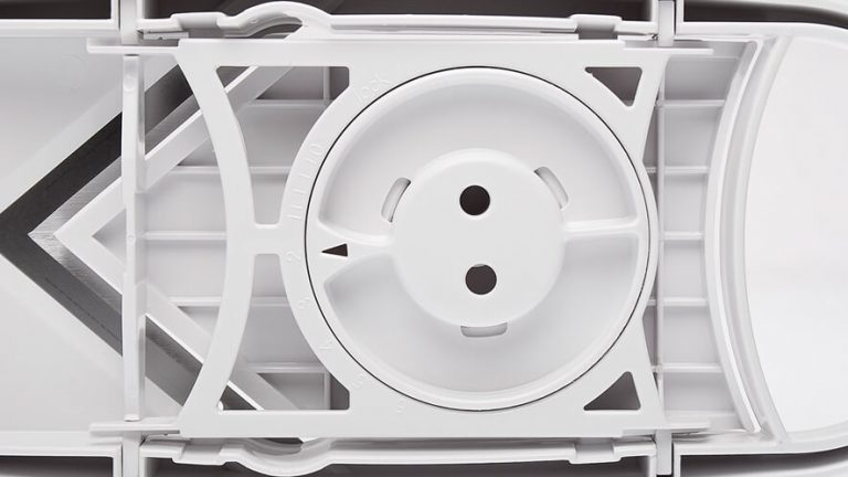 mandoline slicer: setting the thickness of slicing on the bottom