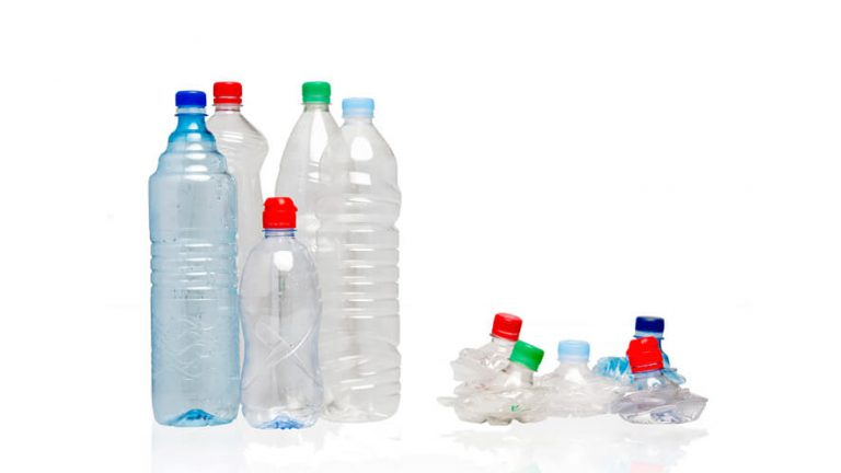 recycling waste plastic bottles