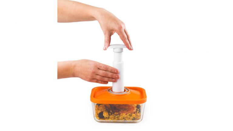 vacume packing food container made of glass