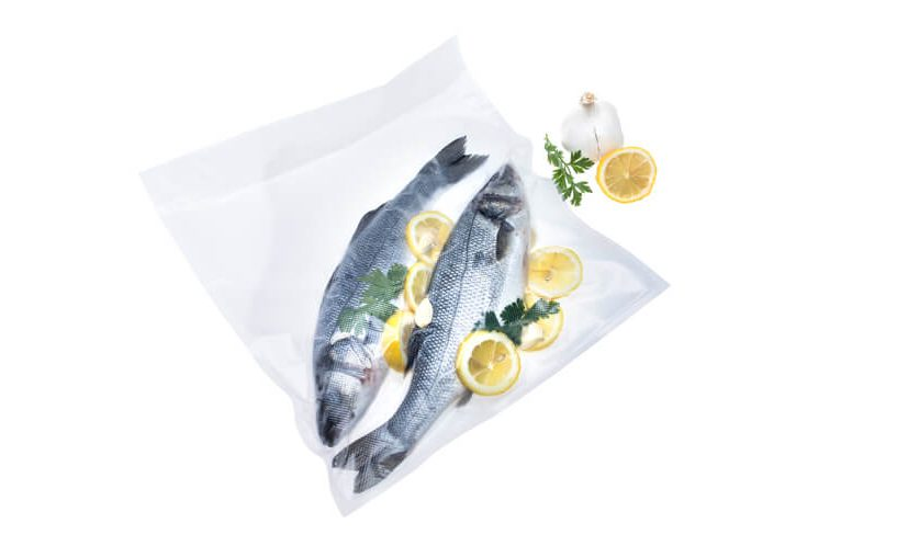 Vacuum packing fish for freezing and sous vide cooking