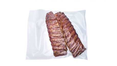 Vacuum bags for larger cuts of meat made from XL vacuum foil roll.