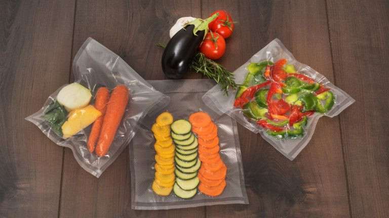 vacuum packed vegetables for freezing