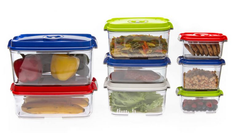 stackable vacuum containers for food