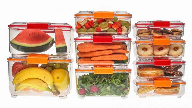 stacked food storage containers