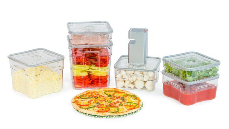 pizza ingredients in Status Gastro Vacuum Containers