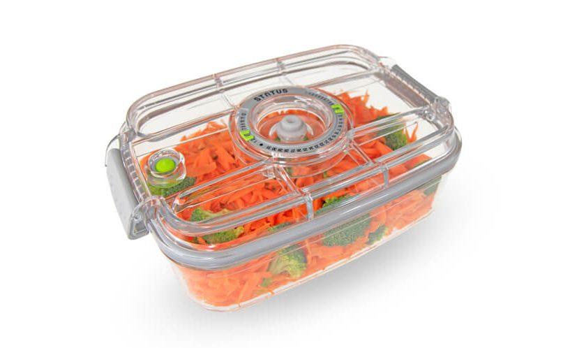 vacuum container for salad