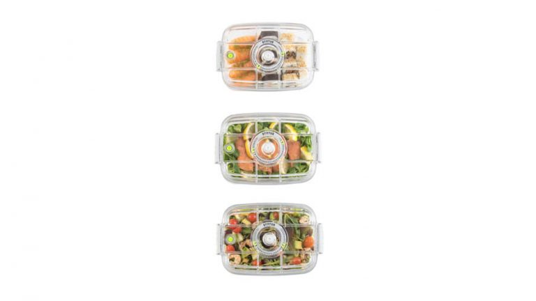 completely see-through food vacume containers